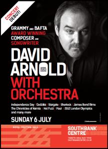 David Arnold RFH concert flyer